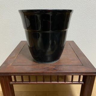 植木鉢 黒 蘭鉢 丸鉢 深鉢 盆栽鉢(その他)