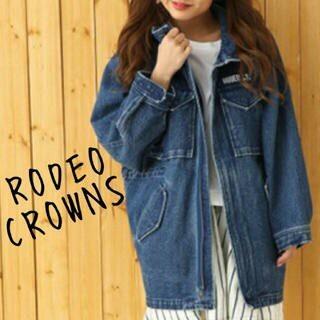 ロデオクラウンズ(RODEO CROWNS)のロデオクラウンズ デニム オーバー サイズ フード コート(Gジャン/デニムジャケット)