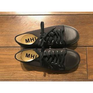 マーガレットハウエル(MARGARET HOWELL)のMHL.× MoonStar スニーカー ブラック(スニーカー)