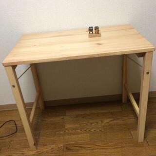 ムジルシリョウヒン(MUJI (無印良品))のパイン材 テーブル 折りたたみ式 muji MUJI 無印良品 机 ロフト民芸品(折たたみテーブル)