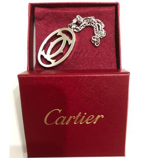 カルティエ(Cartier)のカルティエ  キーリング チェーン  2C ロゴ チャーム  (チャーム)