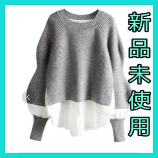 ザラ(ZARA)のニット レイヤードニット レイヤードシャツ ZARA 韓国  冬服(ニット/セーター)