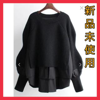 ニット レイヤードニット シャツ レイヤードシャツ ZARA  韓国(ニット/セーター)