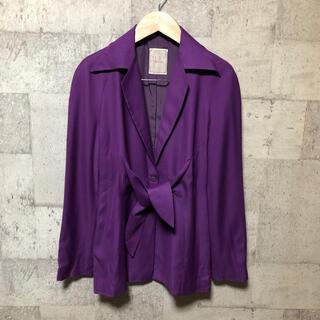 シビラ(Sybilla)のSybilla シビラ デザインジャケット パープル レーヨン ウール(テーラードジャケット)
