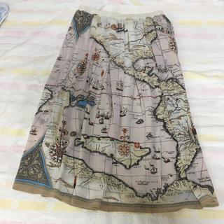 ロイスクレヨン(Lois CRAYON)のnapoca 地図柄シフォンスカート(その他)