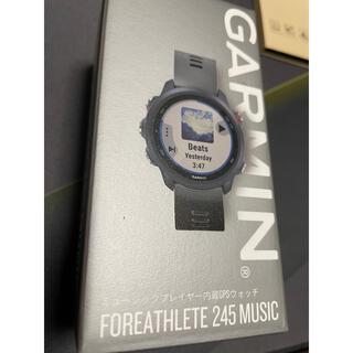 ガーミン(GARMIN)のGARMIN FOREATHLETE 245 MUSIC BLACK RED(ランニング/ジョギング)