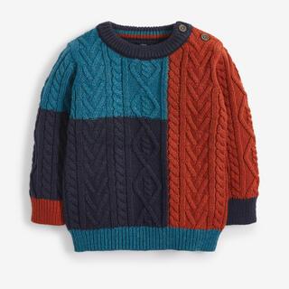 ネクスト(NEXT)のケーブル編み ニット クルーネックセーター (3 か月~7 歳)(ニット/セーター)