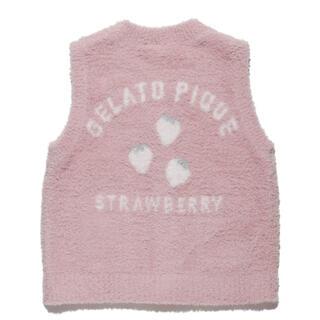 ジェラートピケ(gelato pique)のgelato pique♡ベビモコ'ストロベリージャガード baby ベスト(カーディガン/ボレロ)