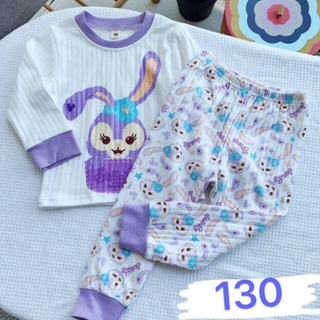 ステラルー(ステラ・ルー)のステラルー  キッズパジャマ ルームウェア セットアップ子供 長袖 130(パジャマ)