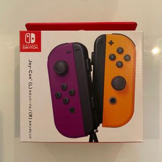 ニンテンドースイッチ(Nintendo Switch)のジョイコン Joy-Con(L)ネオンパープル/(R)ネオンオレンジ(ゲーム)
