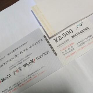 銀のさらの株主優待券2500円分(その他)