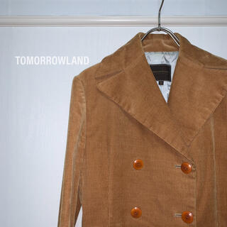 トゥモローランド(TOMORROWLAND)のトゥモローランド TOMORROWLAND Pコート コーデュロイ ジャケット(ピーコート)