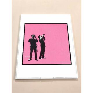 MBS01-バンクシー Banksy  鏡 ミラー 薄型 折りたたみ式 雑貨  (ミラー)