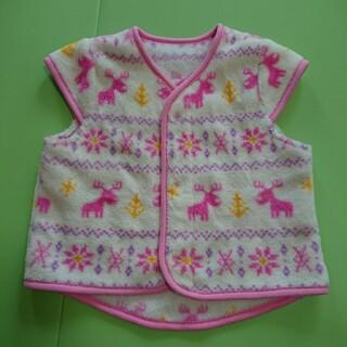 アカチャンホンポ(アカチャンホンポ)の赤ちゃん本舗、ベスト、ピンク、80~90サイズ、フリース、部屋着(その他)