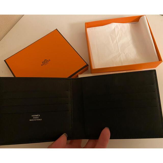 Hermes(エルメス)のHERMES エルメス シルク 二つ折り ドット柄 メンズのファッション小物(折り財布)の商品写真