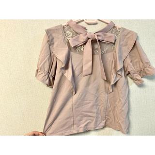 マーズ(MA*RS)の【量産型】ピンク リボン ブラウス (シャツ/ブラウス(半袖/袖なし))