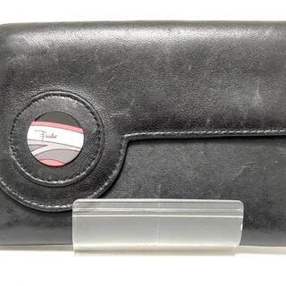 エミリオプッチ(EMILIO PUCCI)のエミリオプッチ Wホック財布 - 黒 レザー(財布)