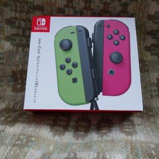 ニンテンドースイッチ(Nintendo Switch)の【新品未開封】joy-con(L)ネオングリーン/(R)ネオンピンク(その他)