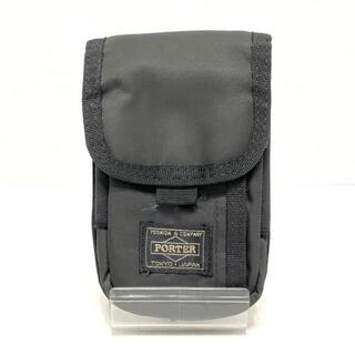 ポーター(PORTER)のポーター 携帯電話ケース - 黒 ナイロン(モバイルケース/カバー)