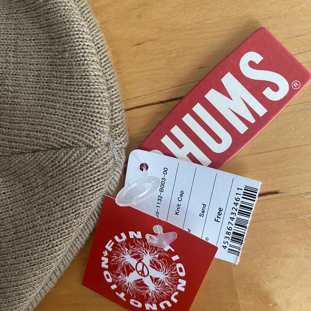 CHUMS(チャムス)の[CHUMS]ニットキャップ 新品未使用タグ付き レディースの帽子(ニット帽/ビーニー)の商品写真