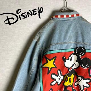 Disney - 【Disney 超希少 長袖Gジャン デニムジャケット ビッグロゴ レア古着】