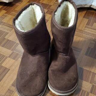 ムートンブーツ茶色22cm美品(ブーツ)