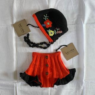 キャラメルベビー&チャイルド(Caramel baby&child )のkalinka kids(カリンカキッズ)ボトム ボンネット セット(ロンパース)