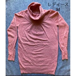 ベルメゾン(ベルメゾン)の千趣会 ウール タートルネック ピンク M(ニット/セーター)