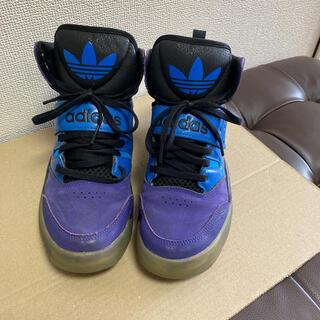 アディダス(adidas)のadidas アディダススニーカー 青×紫(スニーカー)