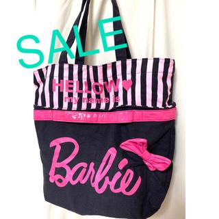 バービー(Barbie)のBarbie キャンバス リボン付きトートバッグ(トートバッグ)