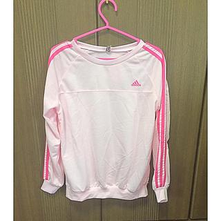 アディダス(adidas)のピンク ロンT(Tシャツ(長袖/七分))