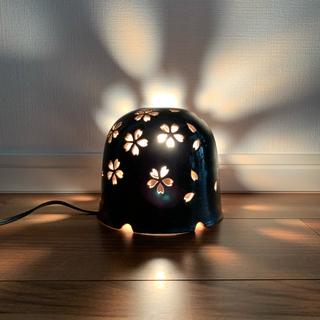 アクタス(ACTUS)の照明テーブル フロアスタンド ボルドー 陶器 美濃焼 陶芸 アジア インテリア(フロアスタンド)