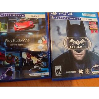 プレイステーションヴィーアール(PlayStation VR)のPSVR ソフト2本  バットマン(北米版)とDEMO DISK(家庭用ゲームソフト)