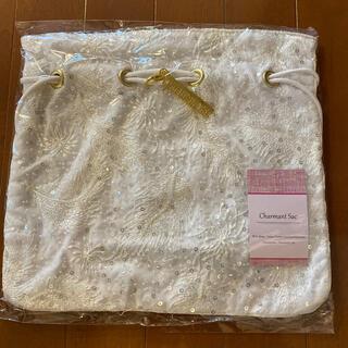 シャルマントサック× THE HANY 巾着 バッグ ホワイト(ショルダーバッグ)