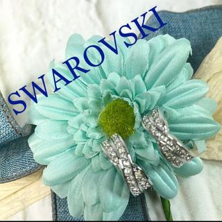 スワロフスキー(SWAROVSKI)のスワロフスキー SWAROVSKI ハーフフープ イヤリング(イヤリング)