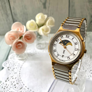 サンローラン(Saint Laurent)の【希少】Yves Saint Laurent 腕時計 ムーンフェイズ ボーイズ(腕時計(アナログ))