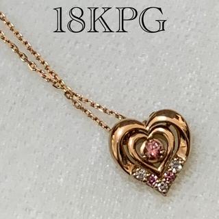 テイクアップ(TAKE-UP)のほぼ新品【テイクアップ 】18KPG ダイヤモンド ネックレス(ネックレス)