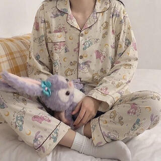 ダッフィー(ダッフィー)の新品未使用☆韓国ファッション☆ダッフィーフレンズ☆パジャマ☆ルームウェア(ルームウェア)
