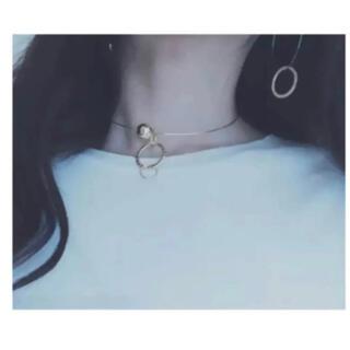 ザラ(ZARA)の【美品!】セレクトショップ  シンプル ゴールドワイヤー チョーカー(ネックレス)