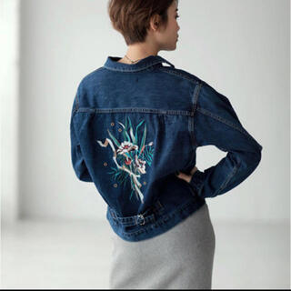 アズールバイマウジー(AZUL by moussy)の刺繍デニムジャケット(Gジャン/デニムジャケット)