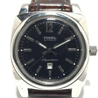 FOSSIL - フォッシル 腕時計 Signature SI-1007 黒