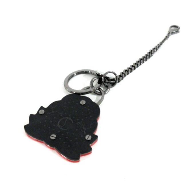 Christian Louboutin(クリスチャンルブタン)のクリスチャンルブタン 黒×レッド レディースのファッション小物(キーホルダー)の商品写真