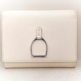 ラルフローレン(Ralph Lauren)のラルフローレン 3つ折り財布 - アイボリー(財布)