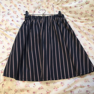 ローリーズファーム(LOWRYS FARM)のストライプスカート*ネイビー..(ミニスカート)