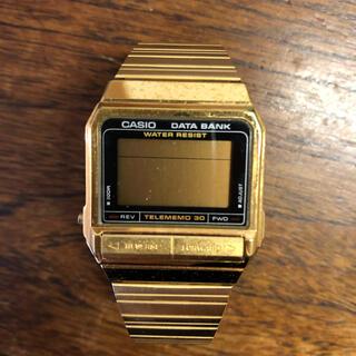カシオ(CASIO)のCASIO DATA BANK ゴールド(腕時計)