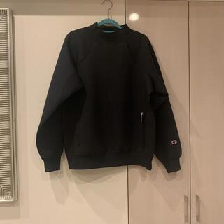 スピックアンドスパン(Spick and Span)のChampion BLACK EDITIOモックネックスウェットシャツ ブラック(トレーナー/スウェット)