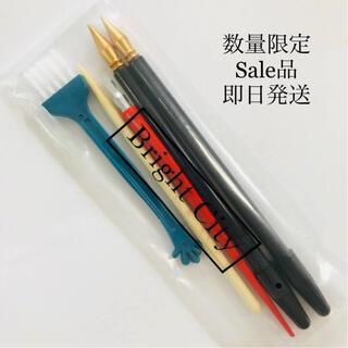 【即日発送】お買い得☆効率アップ スクラッチアートペン 5点セット(絵筆)
