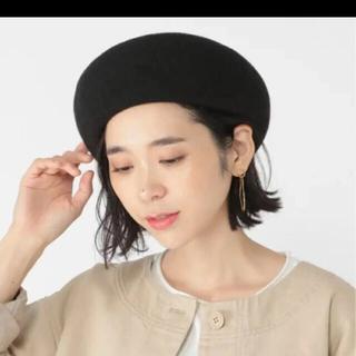スタディオクリップ(STUDIO CLIP)の【studio CLIP】洗える形キープベレー帽 ブラック(ハンチング/ベレー帽)