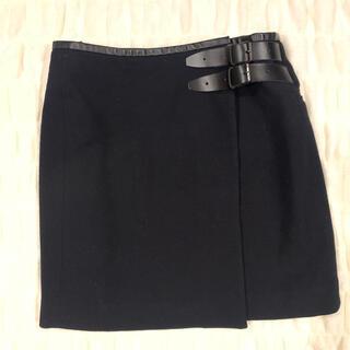 エディション(Edition)のEDITION ラップ スカート 黒(ミニスカート)