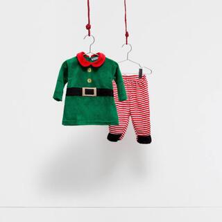 ザラホーム(ZARA HOME)のZARA HOME赤ちゃんクリスマス仮装コスチュームベビー子供服サンタコスプレ(ロンパース)